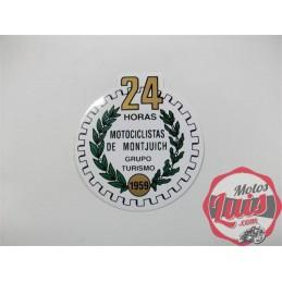 Adhesivo Emblema 24 horas de Montjuic Circular
