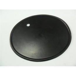 Portanumeros Oval Taladro Negro 28x23