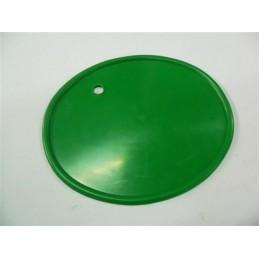 Portanumeros Oval Taladro Verde Oscuro 28x23
