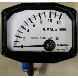 Cuenta RPM Motoplat 0-12.000 Blanco