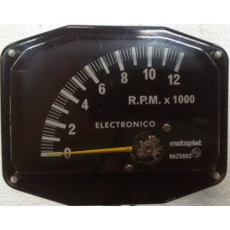 Cuenta RPM Motoplat 0-12.000 Negro