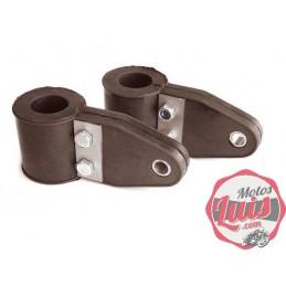 Soportes Faro Bultaco Metal-Goma 22 mm